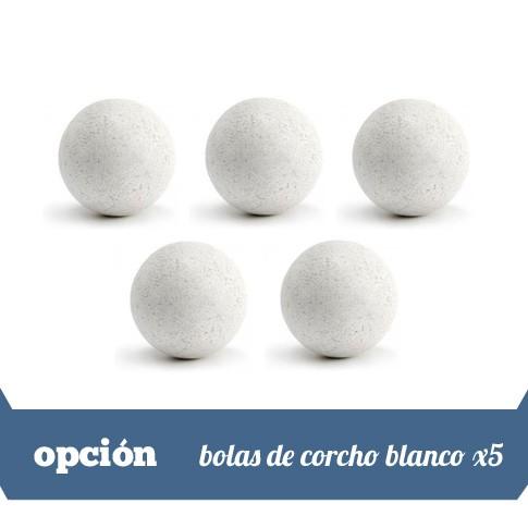 lote de 5 bolas corcho blancas