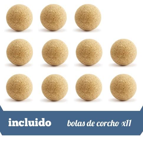 11 bolas de corcho