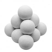 Lote de 11 bolas de corcho blancas
