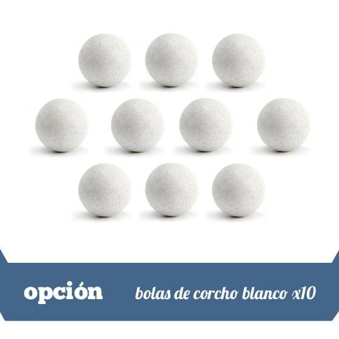 lote de 10 bolas corcho blanco