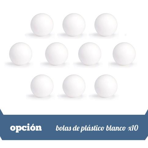 lote de 10 bolas blancas plastico