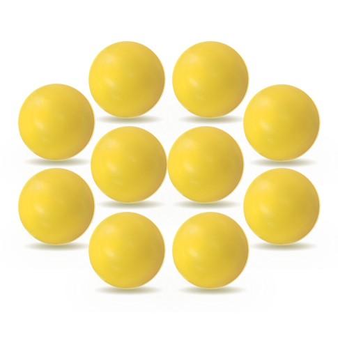 10 balles plastique brillant jaunes
