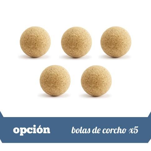 5 bolas de corcho