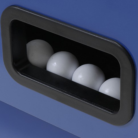 Futbolín gris azul balas