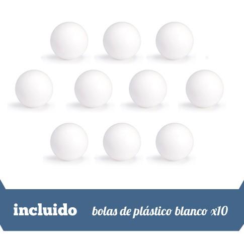 10 bolas de plastico blanco