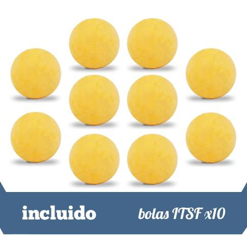 10 bolas ITSF demarcadas