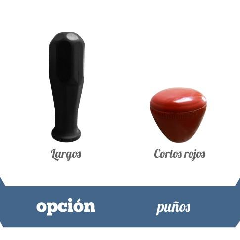puños negros y rojos